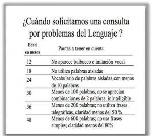 Consulta problemas lenguaje
